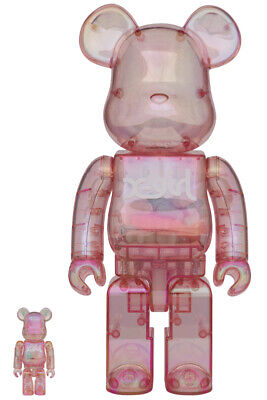 $1555.55 • Buy Bearbrick Medicom 2020 Xgirl X-girl Clear Pink GID Ver. 100% 400% Be@rbrick