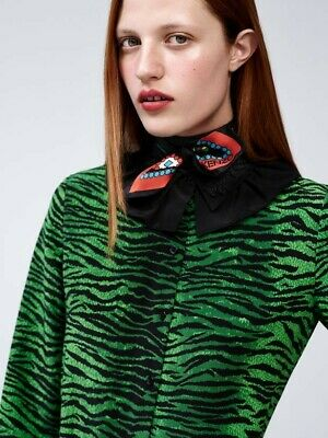 AU50 • Buy Kenzo For H&M Tiger Blouse - Silk - Size 32