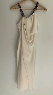 AU84.15 • Buy CARLA ZAMPATTI Gorgeous White Grecian Drape Dress Shorter Style Fit 6-8