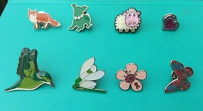 Enamel Pin Badge Brooche - Nature, Animals. Fox, Dog, Sheep, Butterfly, Flower,  • 1.50£