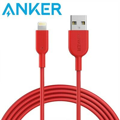AU34 • Buy Anker 1.8m Charging Cable PowerLine II USB To Lightning Red Apple A8433H91