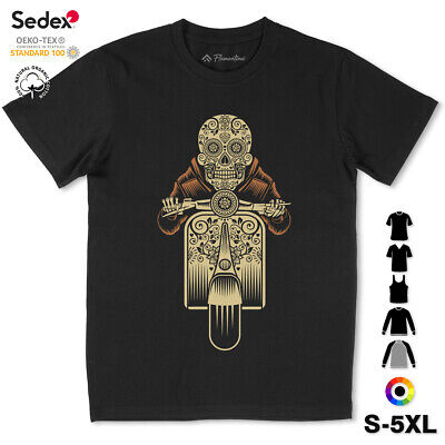 £10.99 • Buy Sugar Scooter T-Shirt Motorcycles Skull Day Death Mexican Holiday Biker P324
