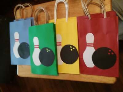 8 PC Bowling Goofy Gift Bags Party Favors Candy Treat Birthday Bag New • 11.54£