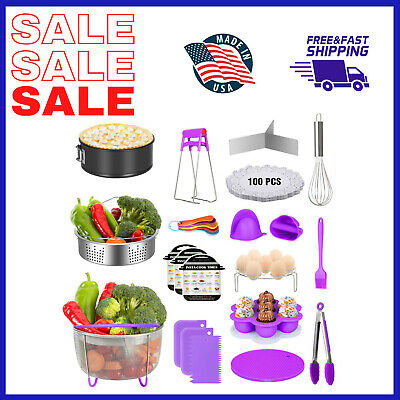 $51.66 • Buy 124 Pieces Instant Pot Accessories Set Fits 5 6 8 Quart Cooker W/ Steamer Basket