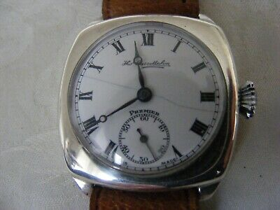 VERY RARE VINTAGE SILVER CUSHION WATCH C1920s By Thos Russell & Son. STUNNING • 225£