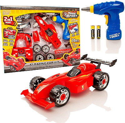 £11.49 • Buy Take Apart? Construction Toy Kit - 2 In 1 F1 Toy Racing Car - Build Your Own Car