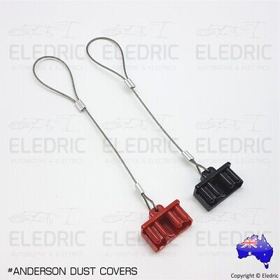 AU8.50 • Buy Anderson Plug Dust Cover Caps Set Of 2 - 50A - SB50 - RED & BLACK