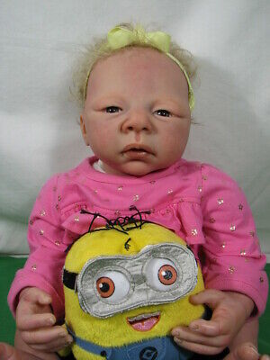 $ CDN349.99 • Buy Unknown Reborn Baby Girl  Doll 19  Tall 5 Pounds Rooted Blond Hair Blue Eyes