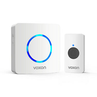 TeckNet Wireless Doorbell 820 Feet 32 Chimes Wall Plug-in Cordless Door Chime • 10.99£