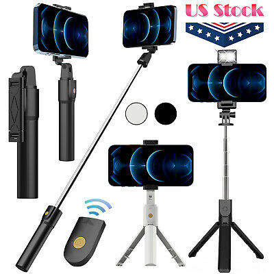 $13.95 • Buy Selfie Stick Tripod Remote Desktop Stand Cell Phone Holder For IPhone Samsung US