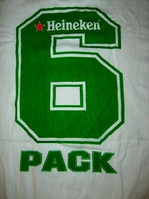 Heineken 6 PACK OFFICIAL T-Shirt IRB Rugby World Cup FRANCE 2007 MENS L UNION • 21.52£