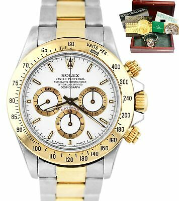 $ CDN17560.56 • Buy FULL SET Rolex Daytona Cosmograph Zenith W 16523 40mm Two-Tone Gold White Watch