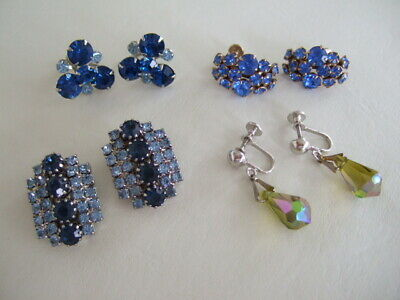 $ CDN24 • Buy Vintage Fashion Earring Lot – Four Pairs