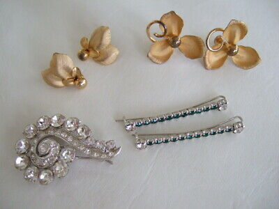 $ CDN30 • Buy Lot Of Vintage Fashion Earrings, Hair Pins, Brooch