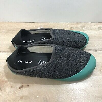 $29.99 • Buy Mahabis Wool Slipper With Rubber Bottoms Shoes Men's Size 8, EU 41 Gray/Teal