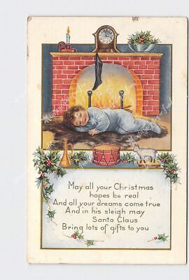 £4.82 • Buy Ppc Postcard Whitney May All Your Christmas Hopes Child Sleeps Next To Fireplace