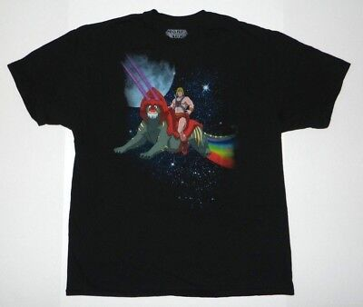 $14.99 • Buy New Master Of The Universe Rainbow Space Battle Cat T-shirt He-man