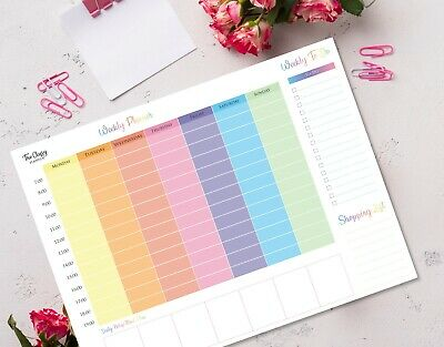 £9.95 • Buy Weekly Desk Planner Pad With To Do List Shopping List & Meal Planner Section