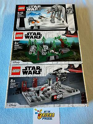 AU199.99 • Buy Lego Star Wars Exclusives Lot Of 3 40333/40362/40407 20th Ann Ed New/Sealed/H2F
