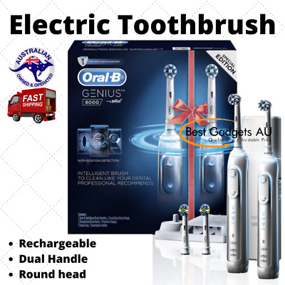 AU283.94 • Buy Oral-b Genius | 8000 Dual Handle Electric Toothbrush Gen8000dh