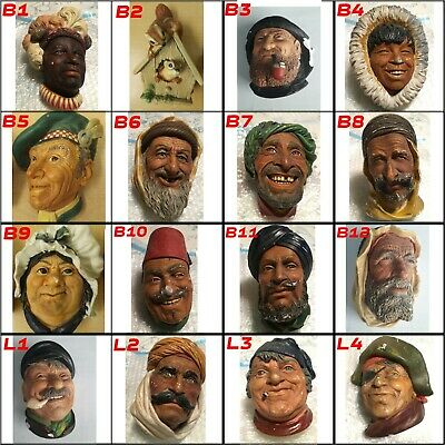 £29.99 • Buy 16 Bossons Heads / Legend Vintage Chalkware Wall Plaque Figures CHEAPEST On EBay
