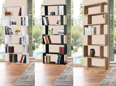 Tall Wooden Bookcase Display Storage Cabinet Modern Room Divider Shelving Unit • 69.90£