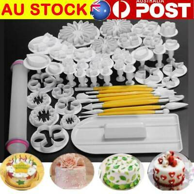 AU16.14 • Buy 46 PCS Flower Fondant Cake Sugarcraft Decorating Kit Cutters Tools Mold Sets AU