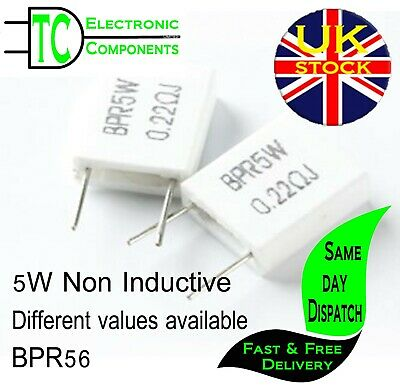 £1.98 • Buy BPR56 5W Non Inductive Ceramic Cement Resistors (Different Values Available)