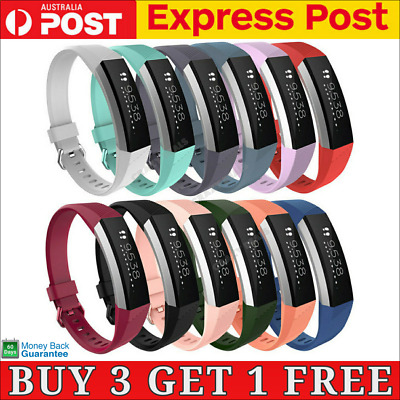 AU5.25 • Buy New Replacement Silicone Wrist Band Secure Buckle For Fitbit Alta HR / Alta 2
