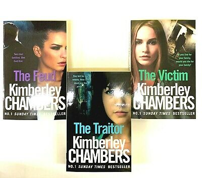Kimberley Chambers Collection 3 Books Triolgy-The Feud,The Victim,The Traitor-NW • 11.99£