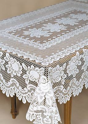 $72.99 • Buy Heritage Lace ROSE Tablecloth 52 X 72 Rectangle Off-White Made In USA