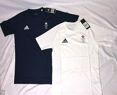 Adidas Team GB Training Shirt Running Athletics Olympic Mens Womens Blue / White • 19£