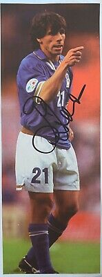 Gianfranco Zola Genuine Hand Signed Italy Magazine Cut Out, Chelsea, 1 • 10£