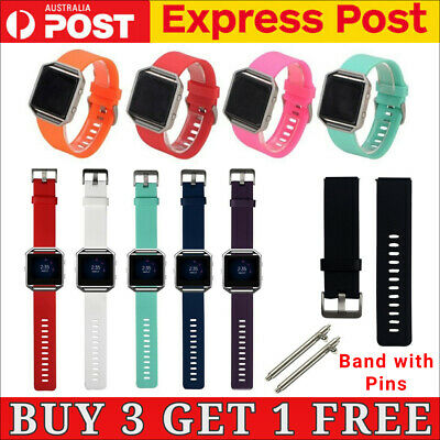AU6.11 • Buy Replacement Silicone Gel Band Strap Bracelet Wristband For FITBIT BLAZE Sport
