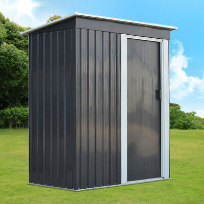 New Metal Garden Shed 3 X 5FT Yard Store Garden Tools Box Storage House - Grey • 199.99£