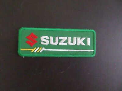 $3.50 • Buy SUZUKI MOTORCYCLES  GREEN & WHITE  Embroidered 1-1/2 X 4-1/2 Iron On Patch