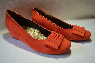 AU64.40 • Buy Women's Sara Cole Rust Kid Suede Wedge Shoes Size 40 Tried On Never Worn