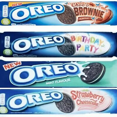 Oreo Cookies Mint Strawberry Peanut Butter Party Brownie 2 Packs Ships World • 4£