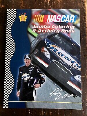$3.96 • Buy New ~ NASCAR Jumbo Coloring & Activity Book Rusty Wallace #2 Mobil Car Cover