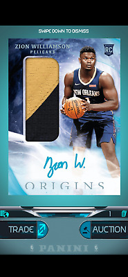 $0.99 • Buy ZION WILLIAMSON Panini DUNK Digital Cards -- Choose Your Card!