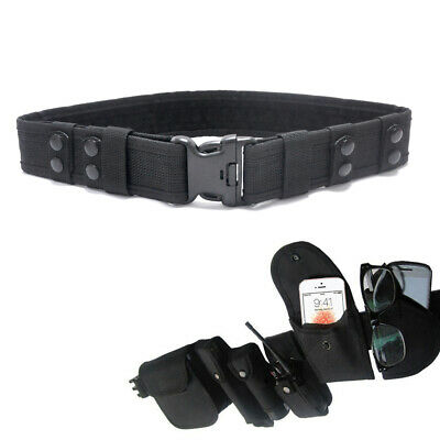 £4.89 • Buy Black Heavy Duty Security Guard Paramedic Army Police Utility Belt Quick Release