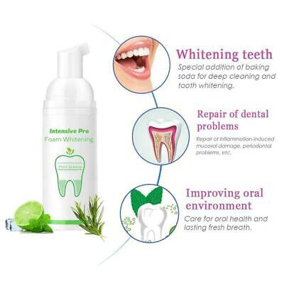 Foam Toothpaste Cleaning Whitening Mouth Wash Teeth Plaque Removes Hygiene L3P0 • 2.99£