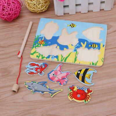 £3.70 • Buy Magnetic Fishing Game 3D Jigsaw Puzzle Board Children Kid Educational Wooden Toy