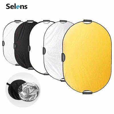 5 In1 100x150cm 39x59  Photography Oval Light Reflector Collapsible Photo Studio • 30.89£