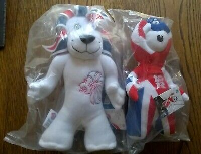 Pride The Lion & Wenlock London Olympics Team GB Mascots New In Bags • 19.99£