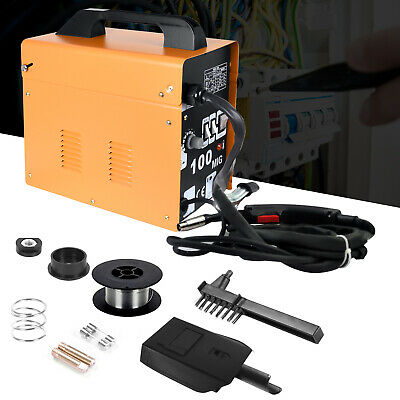 Portable Welder MIG 100 No Gas Auto Wire Feed 230V Welding Machine Electric Kit • 79.99£