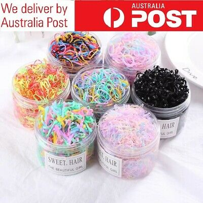 AU2.79 • Buy 20-100pcs Elastic Rubber Hair Ties Hair Band Ropes Women's Ponytail Holder HQ
