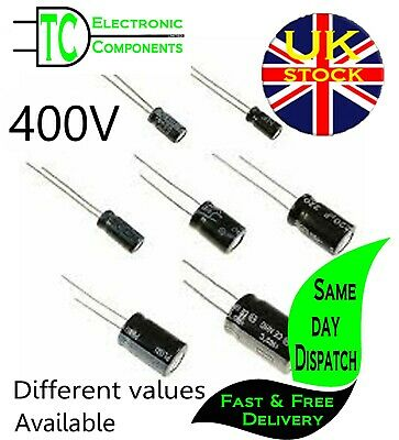 £3.25 • Buy Electrolytic Radial Capacitors 400V (Different Values Available) FREE P&P