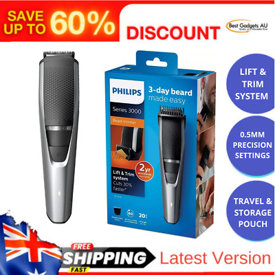 AU71.22 • Buy Philips Beardtrimmer Series 3000 Beard And Stubble Trimmer With Lift & Trim