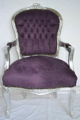 £119 • Buy Louis Xv Arm Chair French Style Chair Vintage Furniture  Purple